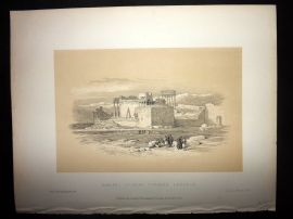 David Roberts Holy Land 1887 Print. Baalbec, Looking towards Lebanon
